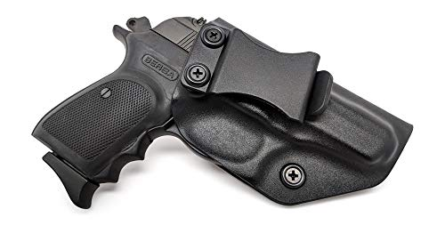 IWB KYDEX Holster: fits Bersa Thunder 380/22 LR (BLK, RH) - Inside Waistband Concealed Carry - Adj. Cant/Retention - US Made ()