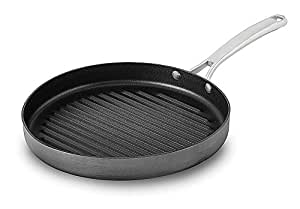 "Calphalon 1932458 Classic Nonstick Round Grill Pan, 12"", Grey"