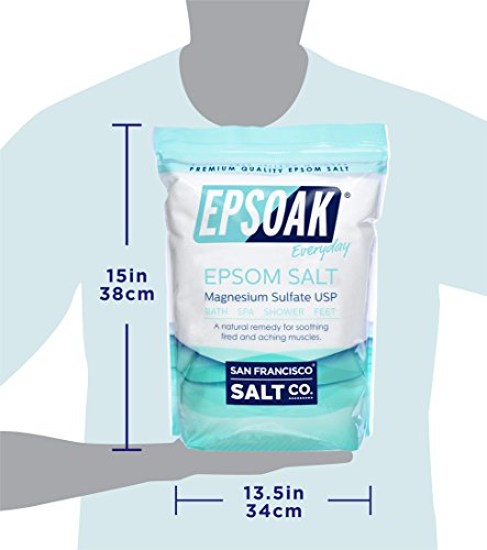 Epsoak USP Epsom Salt 39.5 lbs Magnesium Sulfate (Qty 2, 19.75 lb. Bulk Bags) by Epsoak (Image #8)