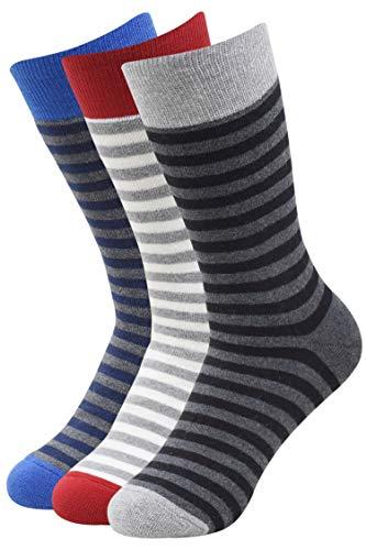 Balenzia Full Cushioned Terry/Towel Thick Socks for Men – Black, L.Grey, Navy