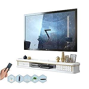 BXYXJ Étagère Meuble de télévision Mural Console Multimédia TV Murale, 100/120/140 / 160cm, étagère de Rangement…