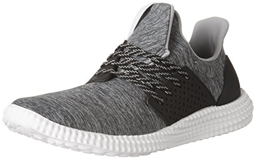 adidas Women's Athletics 24/7 Training Shoes, Medium Heather Grey/Crystal White/Black, (8 M US)