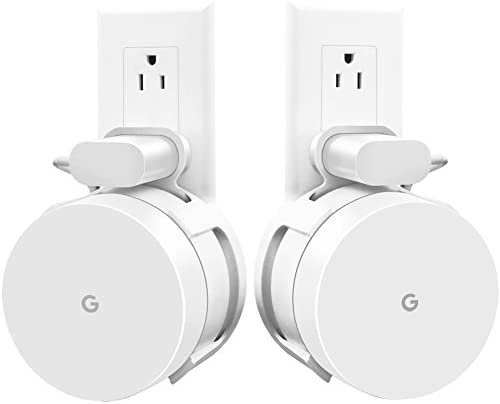 Top rated [Upgraded] Google WiFi Wall Mount, WiFi Accessories for Google Mesh WiFi System and Google WiFi Router Without Messy Wires or Screws (White(2 Pack))