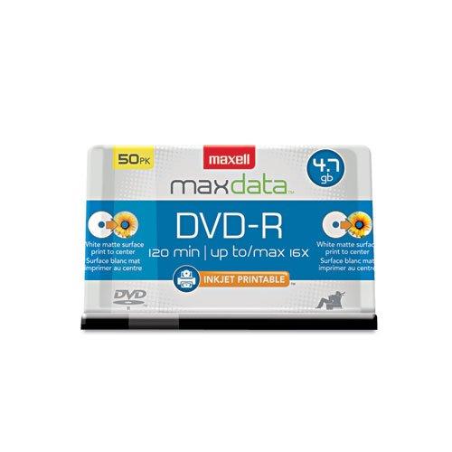Maxell DVD - R記録可能なディスク、4.7 GB、16 x、スピンドル、ホワイト、50 /パック B00INARIEA