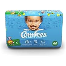 Comfees CMF-7 Premium Baby Diapers, Tab Closure, Size 7, 80 per case