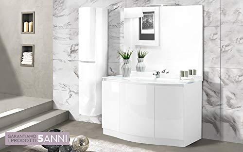Dafnedesign mobile da bagno con lavabo in vetro e colonna
