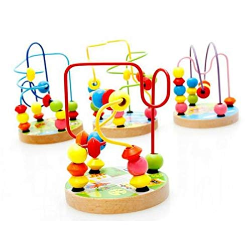 1 Pc Counting Circles Bead Abacus Wire Maze Roller Coaster Wooden Mathematic Toy Educational Toy