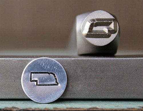 8mm Nebraska US State Metal Punch Design Jewelry Stamp