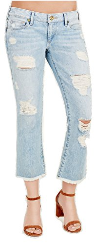 True Religion Women's Karlie Low Rise Bell Bottom Cropped Flare Jeans (23, TR Vintage)
