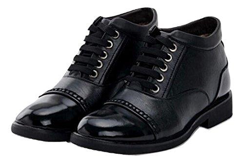 宿題若者メディックR.Y.A.R メンズ ビジネスブーツ ビジネスシューズ 暖かい 紐タイプ 紳士靴 リーガル 通勤 靴 防滑 ローファー ブーツ 黒 ブラック