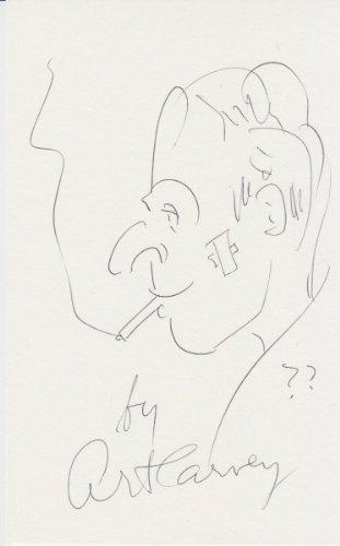 ART CARNEY (The Honeymooners) signed sketch