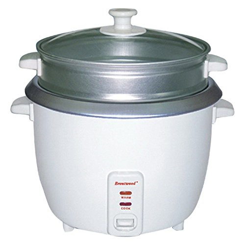 Brentwood TS-480S 15 Cup Rice Cooker with Steamer -