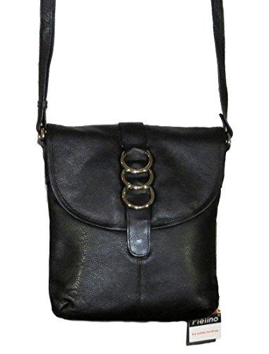 Pielino Leather Crossbody Handbag 130 (Black)