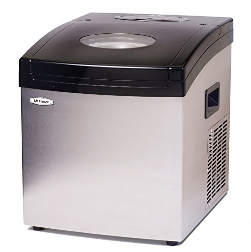 "Mr. Freeze 12"" 35-Lb. Freestanding Icemaker Stainless-Steel MIM-5802"