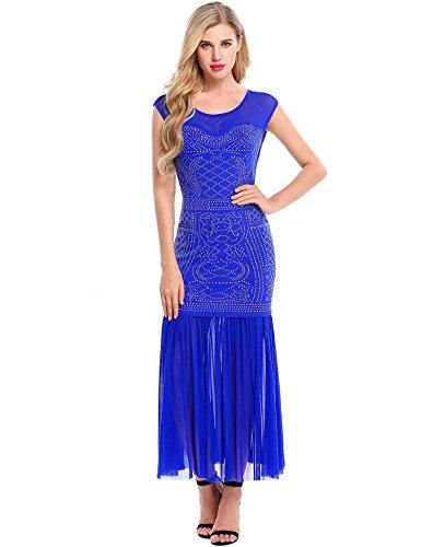 Sheer Embellished Party Dress - 2