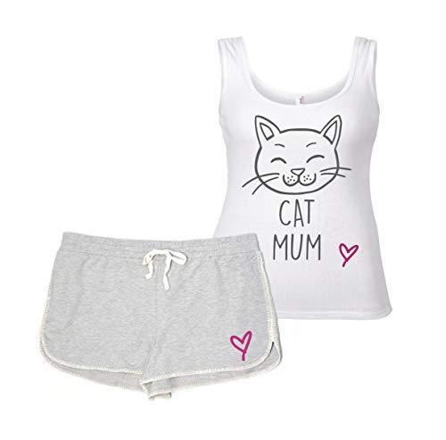 Makeover Ensemble Second Gris Détente Limited Et Vêtement Loisirs Blanc Chat Maman Pyjama Pyjamas 60 De UaYwxda