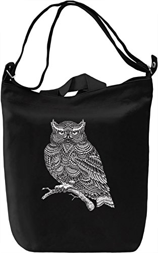 Owl Borsa Giornaliera Canvas Canvas Day Bag| 100% Premium Cotton Canvas| DTG Printing|