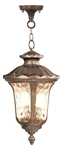 Moroccan Gold Hanging Lantern - Oxford Bronze Candle