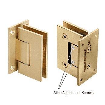 Series Vienna Brass (C.R. LAURENCE V1E337SB CRL Satin Brass Vienna 337 Series Adjustable Wall Mount Full Back Plate Hinge)