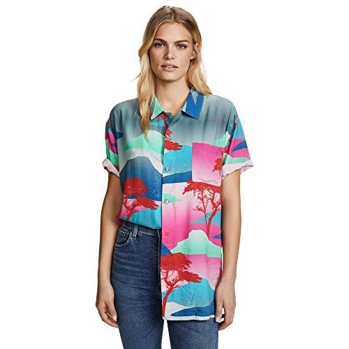 Discount Double Rainbouu Women's Moon Safari Hawaiian Cover Up Shirt hot sale