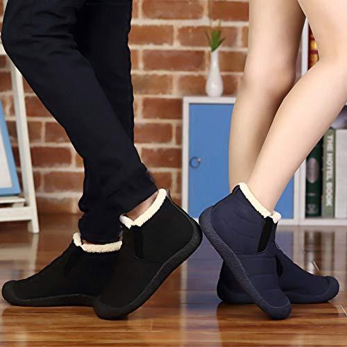 Bottines Homme Boots De Chaudes Couple Fourrure Manadlian Neige Plates Outdoor Bottes Femme Noir Chaussures Hiver Rqdwtd7