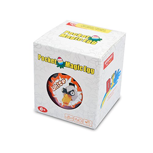 LOTSOFJOY Pocket Magic Egg Series 3D White Bird Head Toy Connection Type Building Blocks