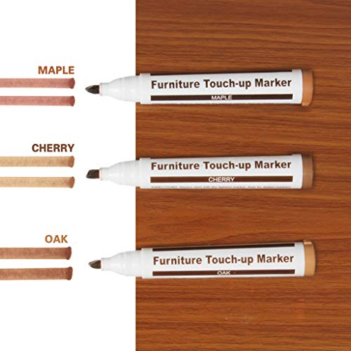 3 Pack Three Light Color Furniture Touch-up Marker for Wood Furniture Repair - Scratch Covers & Removers (3PCS(Maple+Cherry+Oak))