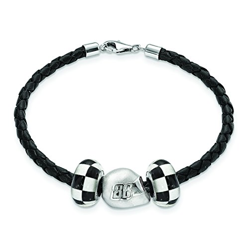 TWO CROSSED FLAG BEADS 88 3D DRIVER HELME ()