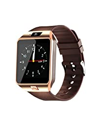 Smartwatch, Bluetooth Smart Watch and Unlocked Watch Cell Phone all in one for Android Smartphones Samsung Sony LG and IOS iPhone–golden