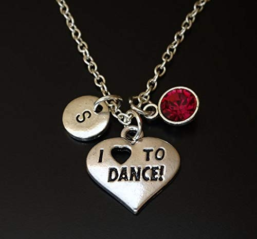 I love to Dance Necklace, Dance Charm, Dance Pendant, Dance Jewelry, Dance Gift for Her, Dance Women, Dance Girl, Dance Grandma Jewelry, Dance Mom Jewelry, Dance Gifts for Girls, Dancing Girl Necklace
