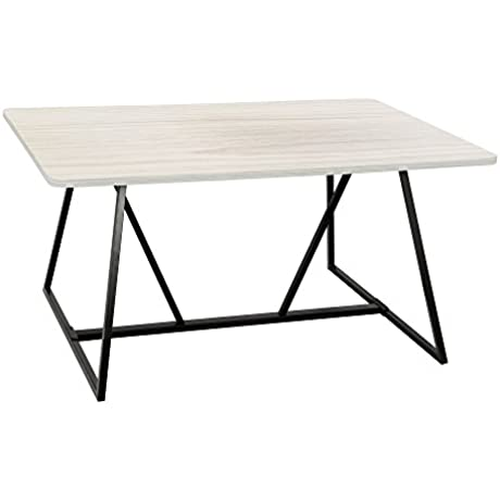 Safco Products SAFBY 3019WW Oasis Teaming Table Weathered White Black