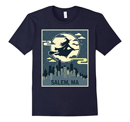 Mens Salem Massachusetts Witch Halloween Night T-shirt XL (Halloween Costumes Salem Ma)