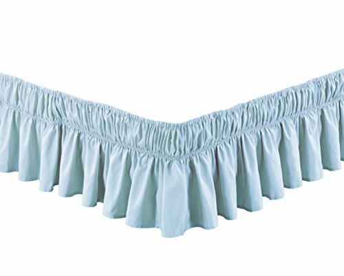 dust ruffle light blue - 2