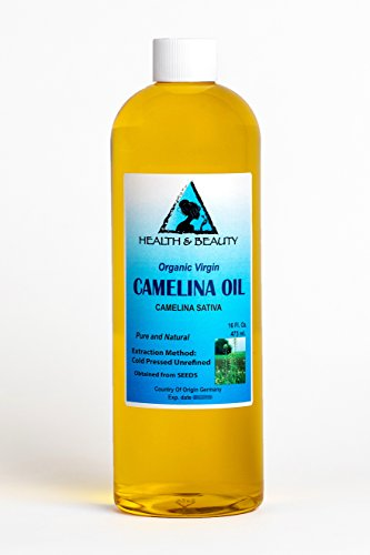 Ultra Lignan Flax Oil - Camelina Oil Unrefined Organic Virgin Raw Cold Pressed Premium Fresh Pure 32 oz