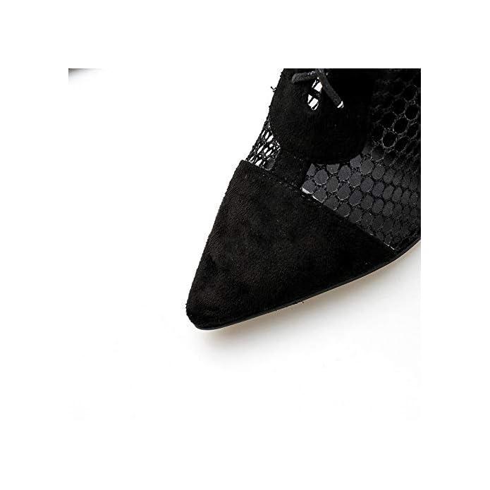 Sakuldes La Signora Gaotong Scarpe Col Tacco Alto Aguzzo Vuoto Caricamenti Del Sistema Freddi color Black Size 38