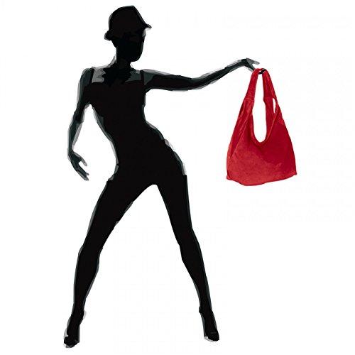 CASPAR Fashion - Bolso de tela para mujer Rojo