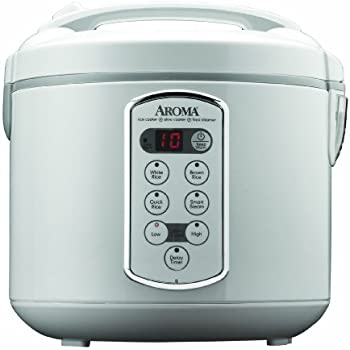 Aroma Housewares Professional 20-Cup (Cooked)  (10-Cup UNCOOKED) Digital Rice Cooker and Food Steamer, Stainless Steel Exterior (ARC-2000A)