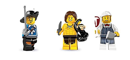 LEGO Musketeer, Jungle Boy, and Butcher Minifigures Custom Bundle (Lego Musketeer)