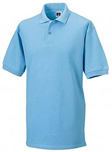 Russell Men's Pique Cotton Short Sleeve Polo Shirt Sky XXL