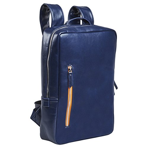 Setton Brothers Laptop Backpack Briefcase MacBook Bag-Case - 13-14 inch, Slim Business Professional Bag Notebook/ Apple MacBook Pro Retina/ iPad Pro 12.9/ Dell xps 13/ Tablet sleeve - Blue