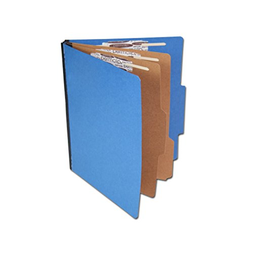 AMZfiling Colored Pressboard Classification Folder with 6 Sections- Cobalt Blue, Letter Size, Top Tab ()