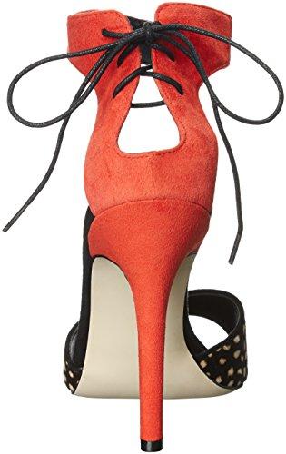 Nicole Pony Spicy Sandal Spotted Women's Bardot Suede Orange Miller Dress ZR4wZ7r