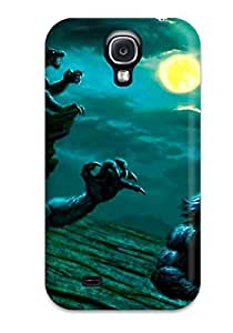Galaxy S4 Hard Back With Bumper Silicone Gel Tpu Case Cover Werewolf Attack Dark Abstract Dark