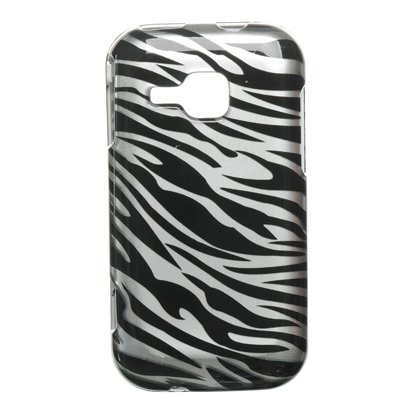 Silver Zebra Hard Case Snap On Faceplate Cover For Samsung Galaxy Indulge R910 Zebra Samsung Faceplates