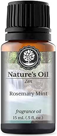 Rosemary Mint Fragrance Oil (15ml) For Diffusers, Soap Making, Candles, Lotion, Home Scents, Linen Spray, Bath Bombs, Slime
