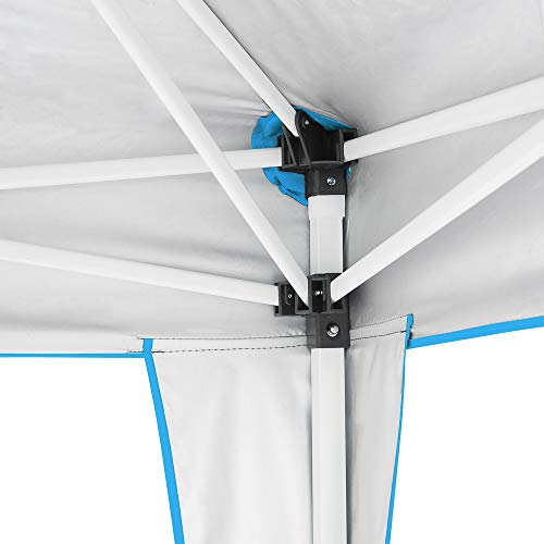 Best Choice Products 10x10ft Portable Adjustable Instant Pop Up Canopy Tent w/Carrying Bag, Light Blue