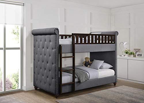 Etagenbett Oxford : Ava chesterfield etagenbett aus leinenstoff für kinder