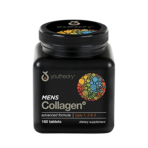 Youtheory Men's Collagen Advanced with Biotin, 160 Count (1 Bottle)