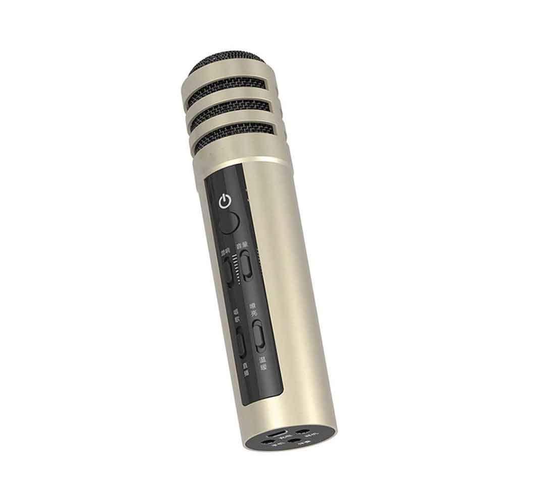 LXXSMDZ Bluetooth Microphone, Karaoke Microphone, Microphone Mobile Phone, Universal Karaoke Artifact Anchor Live Microphone (15.43.8Cm)