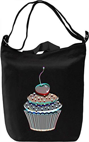 Cherry Cupcake Borsa Giornaliera Canvas Canvas Day Bag| 100% Premium Cotton Canvas| DTG Printing|